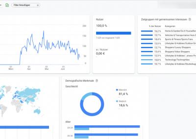 Ein Screenshot einer Google Analytics Zielgruppe