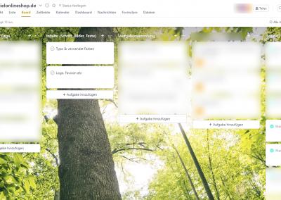 Das Projektmanagement Tool Asana mit einem geöffneten Projekt