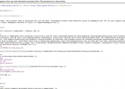 Google xml Sitemap erstellt mit Yoast Seo