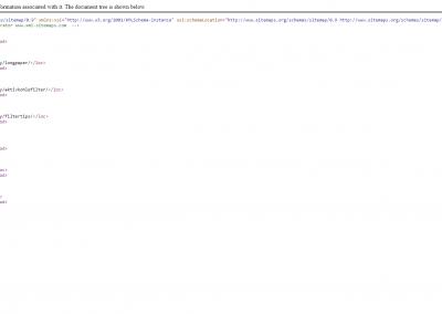 XML Sitemap für die Website longpaper.de