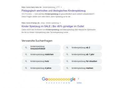 """Passende Keywords finden, mit """"Googles verwandten Suchbegriffen"""""""